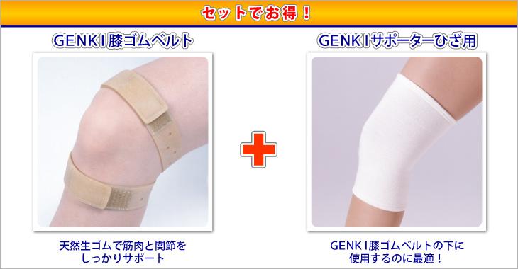 GENKI膝ゴムベルトひざ用サポーター付詳細