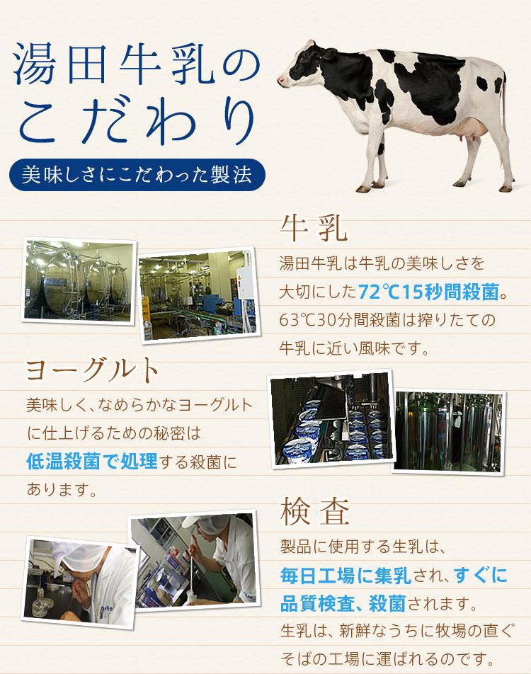 湯田牛乳のこだわり