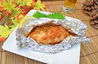 キムチと鮭のホイル焼き