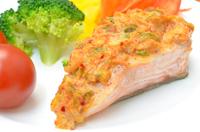 キムチマヨのせ鮭のこんがり焼き