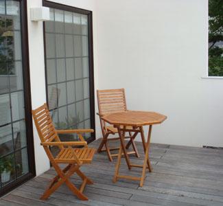 木製八角テーブル70 木製ガーデンチェアアーム付 セット