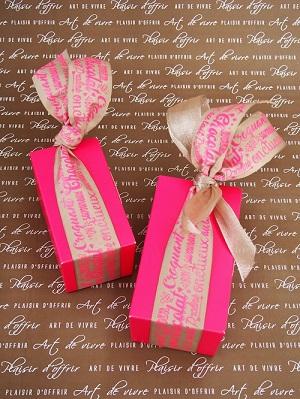 ピンクの箱×プリントリボン
