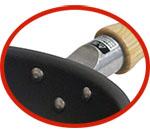 鉄匠窒化鉄フライパン本体と持ち手のつなぎアルミ鋳物製