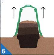 �容器内が8割位になったら、引き抜いてください。