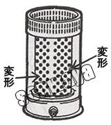 燃焼筒組立の内炎筒の変形により、ススが溜まります。