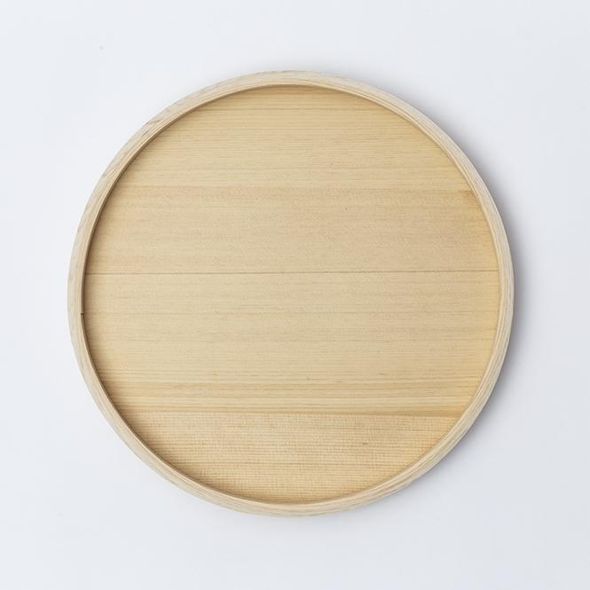 木曽檜木地8寸盆 width=