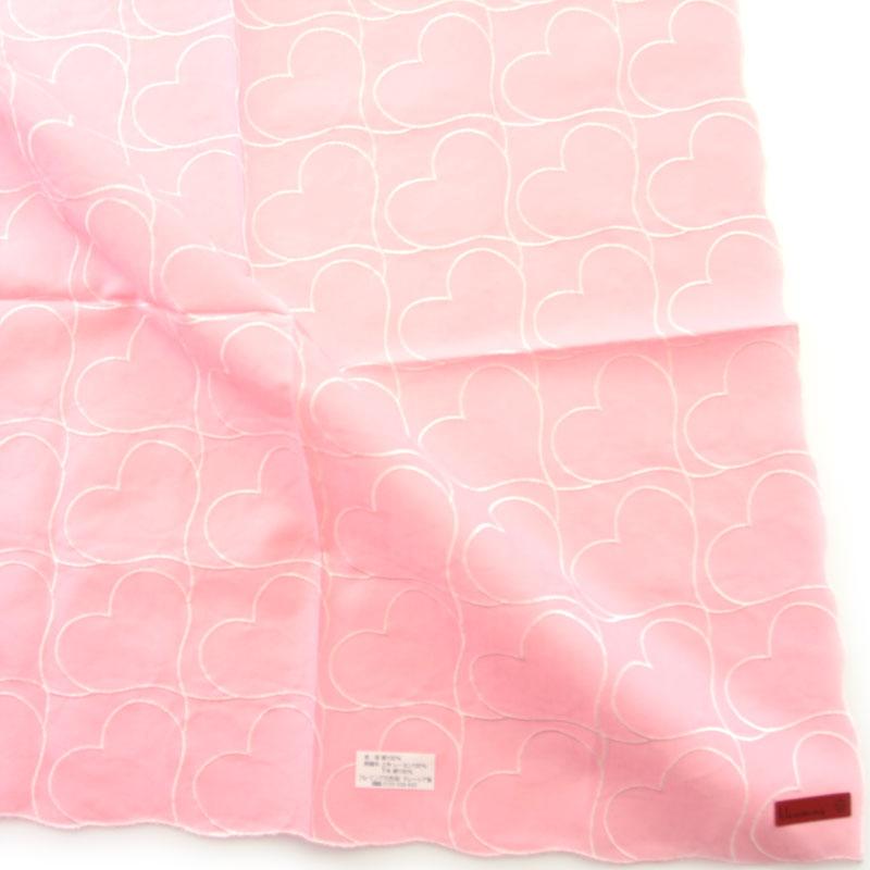 中無地刺繍ハンカチ 8001 ピンク
