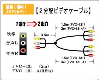 2分配ビデオケーブル FVC131