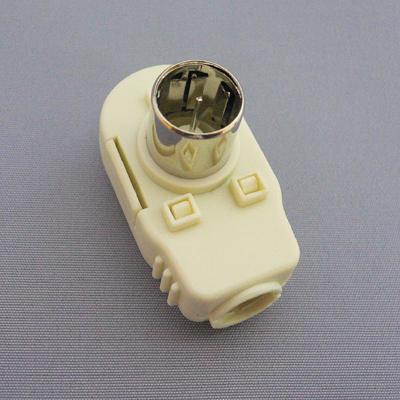 アンテナプラグ白【1個¥95×50個入】 F型同軸プラグ[104W]