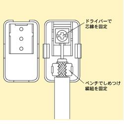アンテナプラグ白 F型同軸プラグ[104W]