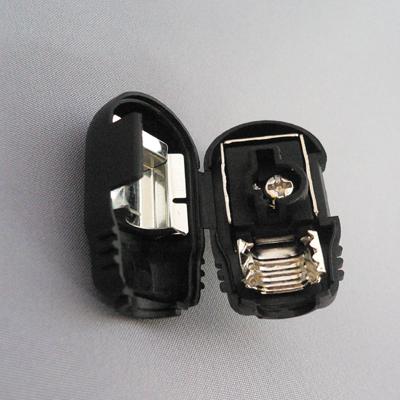 アンテナプラグ黒【1個¥105×10個】 F型同軸プラグ[104BK]