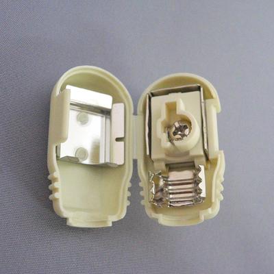 アンテナプラグ白【1個¥105×10個】F型同軸プラグ[104W]
