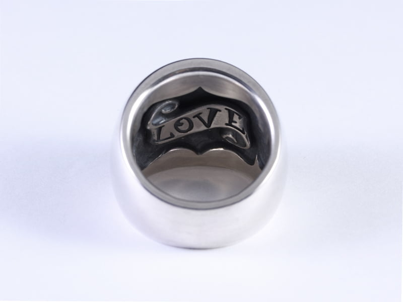 DOMED RING -WIDE- LOVE