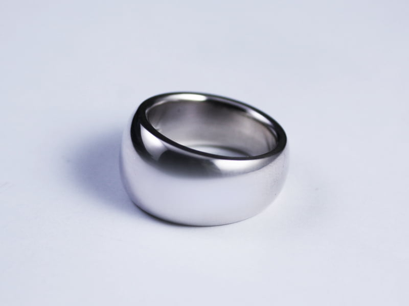 DOMED RING -NARROW- LOVE