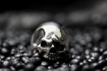 Two Stories Skull Ring