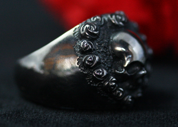 ROSE HEART FLAME RING