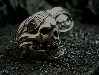 GIVE NO,TAKE NO SKULL RING 1