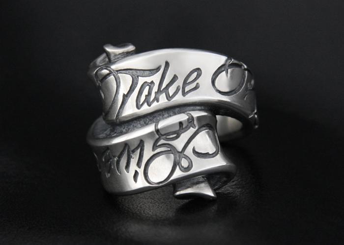 Message On Ribbon Ring / Give No Take No