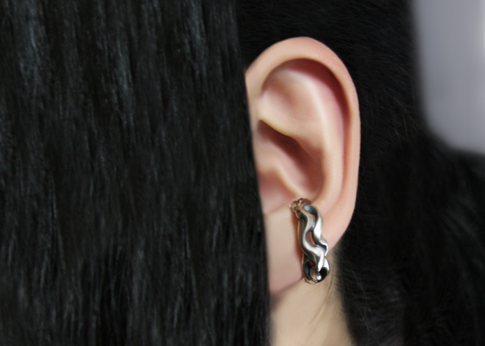 UNDULATE FLARE EAR CUFF (L)