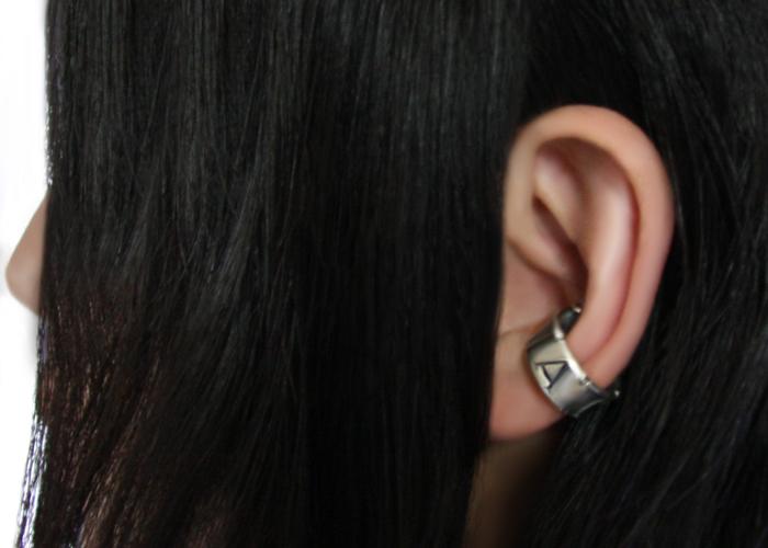 MESSAGE ON RIBBON EAR CUFF (LOVE)