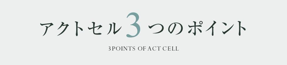 アクトセルの3つのポイント