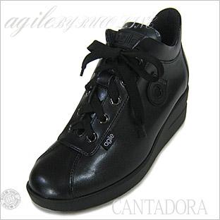 ルコライン靴(アージレ)スニーカー RUCOLINE靴 NO.123BK(ブラック)送料無料