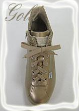 ルコライン靴(アージレ)スニーカー RUCOLINE靴 NO.123GO(ゴールド)送料無料