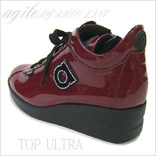イタリア ルコライン靴(アージレ)スニーカー RUCO LINE靴 NO.128WI(ワイン)送料無料