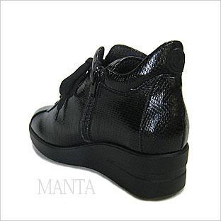 ルコライン靴(アージレ)マンタ(蛇柄)スニーカー RUCO LINE靴 NO.114BK 送料無料