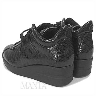 ルコライン靴(アージレ)マンタ(蛇柄)スニーカー RUCO LINE靴 NO.114BR 送料無料
