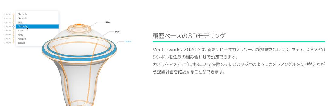 履歴ベースの3Dモデリング